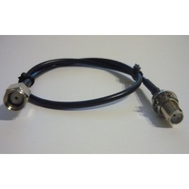 CABLE ADAPTOR FROM SMA RP MALE TO SMA FEMALE - 30CM.