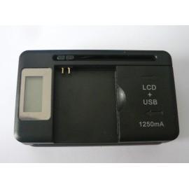 Caricabatterie da Tavolo Universale con LCD per Cellulari a singola e doppia Sim