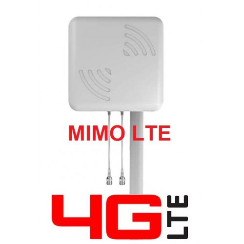 MIMO Antenna Log. for GSM 3G/HSPA/4G/LTE WITH RF-5 10mt. CABLE-SMA