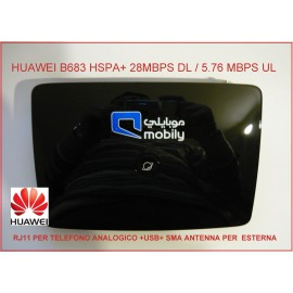 MODEM ROUTER HUAWEI B683 HSPA+ 28MBPS - CONNETTORE SMA + RJ11 per TEL. ANALOGICO