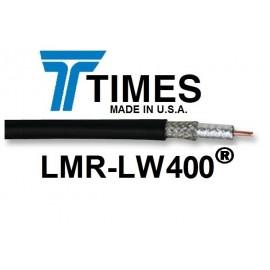 CAVO COASSIALE LMR-LW400 TIMES MICROWAVE MADE IN U.S.A. BASSE PERDITE, VENDITA AL METRO