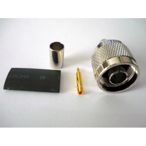 N Male connector for LMR400 / RG213