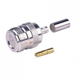 N Female connector for H155 and LMR240 low loss cable