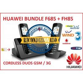 TELEFONO CORDLESS 3G GSM DUOS HUAWEI F685 + F85H