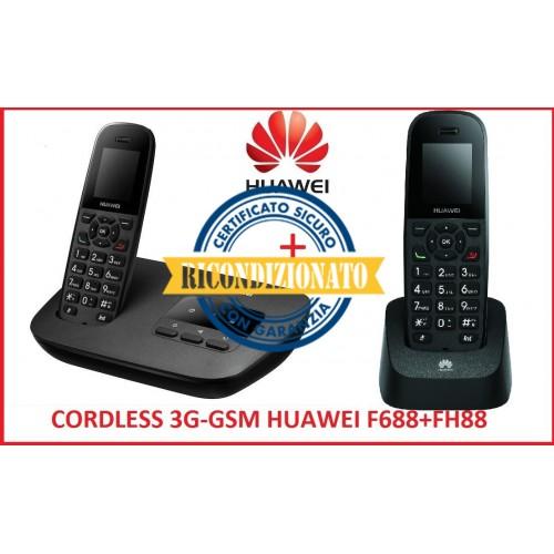 TELEFONO CORDLESS 3G GSM DUOS HUAWEI F688 + F88H CON FUNZIONE INTERFONO