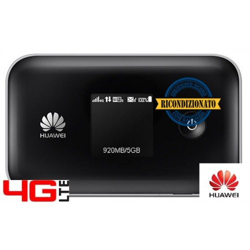ROUTER 4G LTE CAT.4 HUAWEI E5377T 3560mAh WIFI 2.4 e 5.0 Ghz-150Mbps DL / 50 Mbps UL