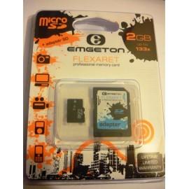 Micro SD Emgeton FLEXARET 2GB con adattatore SD