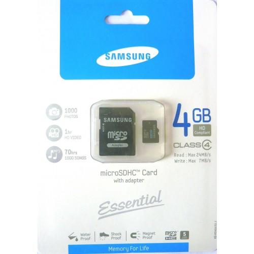 Micro SD HC 4GB Samusung CLASS 4