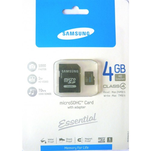 Micro SD HC 4GB Samusung CLASSE 4
